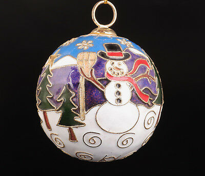 Cloisonne Pendant Christmas Decoration Ball Old Handmade Collectable