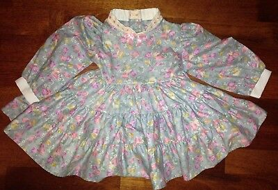 Vintage Her Majesty Floral Girls Dress Size T-2