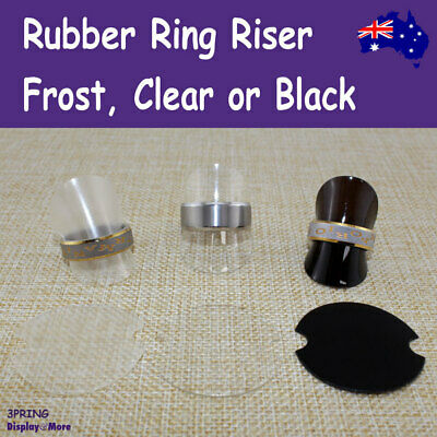 NEW 100 Soft Rubber Ring RISER Stand | Frost, Clear or Black | AUSSIE Seller