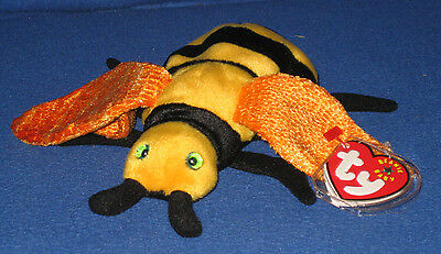 TY BUZZIE THE BEE BEANIE BABY - MINT with NEAR MINT TAG - SEE PICS ... ed4d0cd25d26