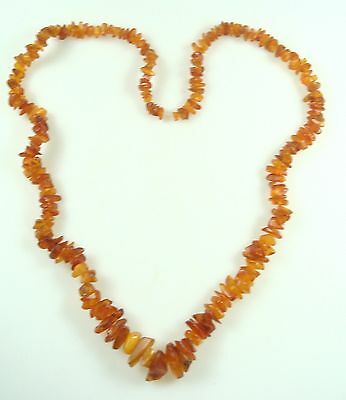 Vintage Amber Necklace Long Large Original Condition 78 Grams Rare Nice  7359
