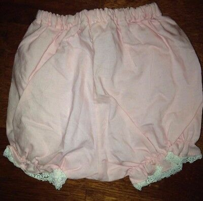 Vintage Handi-Panti By Alexis Pink Diaper Cover With White Lace- Size 0-13 LBS.