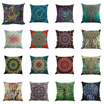 24Styles Mandala Boho Pillow Case Waist Cushion Throw Cover Home Sofa Decor Lots