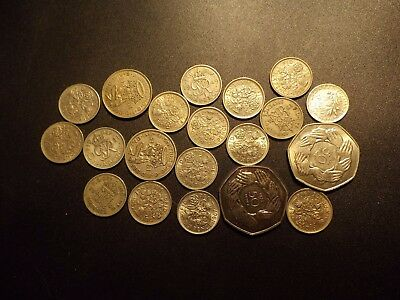 United Kingdom Coins As Shown 1 Silver Not Uk And Proof Uk Fifty Cent