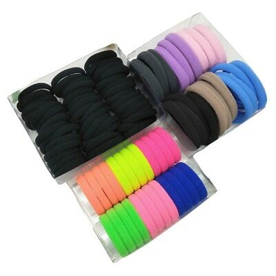 24 Pieces Hair Elastics Ties Ponytail Holders Elastic Bands Bulk Lot Colorful