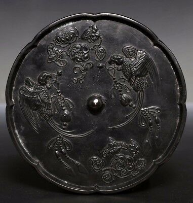 Exquisite Large Rare Old Quality Chinese Bronze Mirror Collection US209 AC