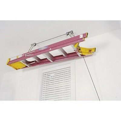 Ladder Board Ceiling Storage Garage Shed Pulley Overhead Roof Store 20-30 KG Max
