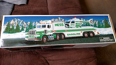 1995 Hess Truck with Helicopter NIB
