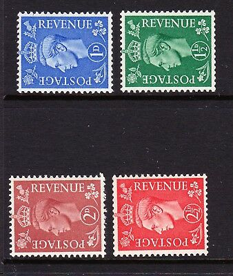 GREAT BRITAIN 1950 NEW COLOURS SIDEWAYS WATERMARK SG 504a-507a MNH.