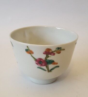Chinese porcelain hand painted teabowls, signed.