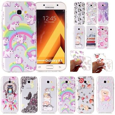 Clear Soft Silicone Phone Case Cover For Samsung Galaxy S6/7/8 & A3 A5 A7 2017