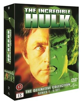 The Incredible Hulk Complete Series 1-5 DVD Box (Region 2 PAL)