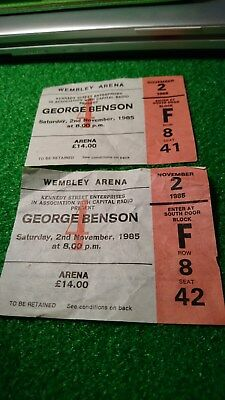 Two George Benson Used Ticket Stubs from 1985