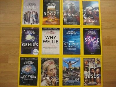 12 x National Geographic 2017 English, complete TOP !!