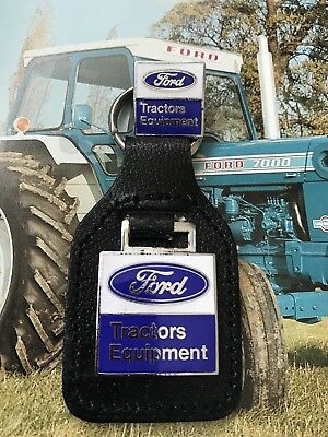 Ford Tractors Equipment Key Ring Last One ! And Pin Badge Rare New