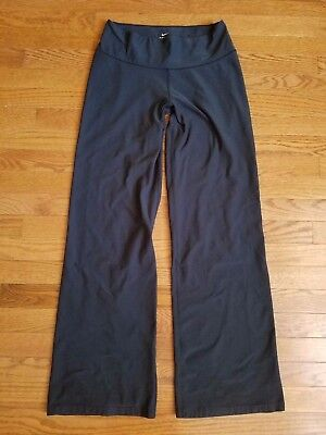 Nike Dri-Fit Black Classic Fit Lounge Yoga Athletic Pants Size Small