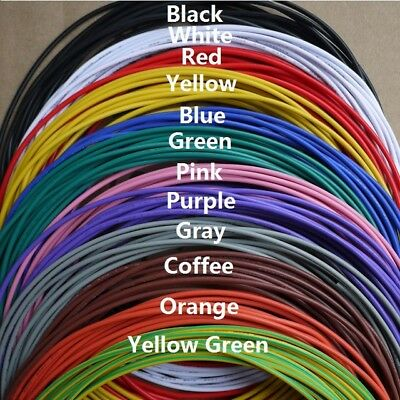 2 Meters UL1007 28AWG 1.2mm PVC Electronic Wire Cable UL Certification