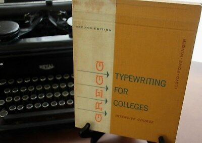 Vintage Greg Typewriting For Colleges Intensive Course Book 1964 2nd Edition