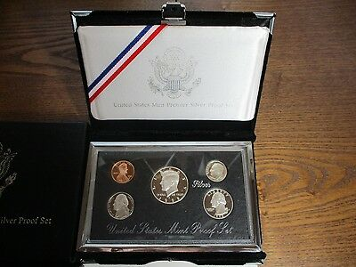 United States  Mint set 1998s Premier 5 Coins  ( Three Proof 90%)