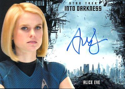 Star Trek Beyond INTO DARKNESS DESIGN AUTOGRAPH CARD of ALICE EVE Carol Marcus