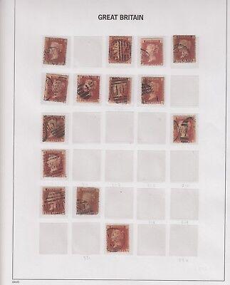 SUPERB SG43/44 Penny Red Collection, Victorian Plates 195 - 222, FINE USED