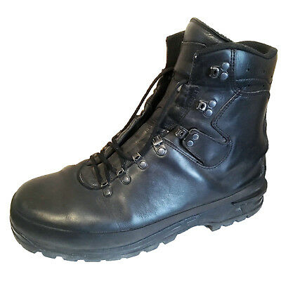 German Mountain Ankle Boots - Black Leather - Goretex - Patrol Para Army Surplus