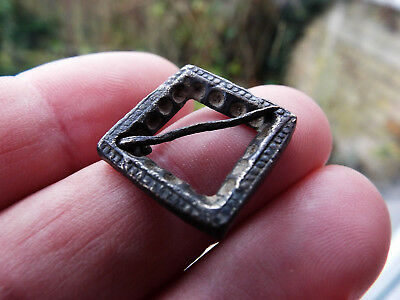 """ELK"""" LOVELY Medieval Decorated RING BROOCH c 13th Century found Suffolk"""
