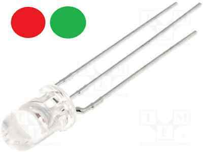 LED 5mm bicolore ROUGE VERT CATHODE transparent Arduino DIY modélisme - E073