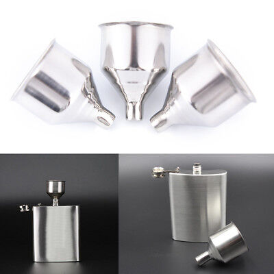 1Pc 8mm Stainless Steel Wine Funnel For All Hip Flasks Flask Filler Wine Pot@@
