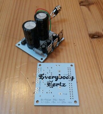 Regulated Dual Polarity Power Supply PCB ideal for Eurorack Synth & Audio DIY
