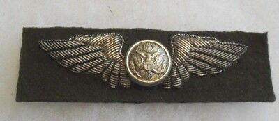 Wwii Fantastic British Made Aaf Air Crew Wing Thick Heavy Bullion Full Size