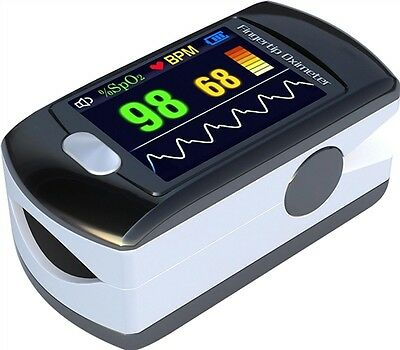 Contec CMS50E Pulse Oximeter & HR Monitor, with Colour OLED + Analysis Software