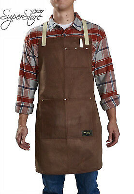 Craftsmans Guild Waxed Canvas Heavy Duty Apron Cotton Straps Utility Tool...