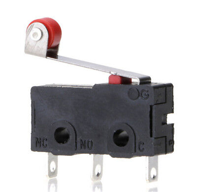 5Pcs/Set Micro Roller Lever Arm Open Close Limit Switch KW12-3 PCB Microswitc HL