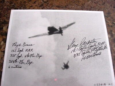 Eagle Squadron, Raf, Autographs Roy Evens And George Carpenter. Both Aces