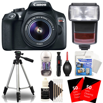 Canon EOS Rebel T6 DSLR Camera w/ 18-55mm Lens , TTL Flash and Accessory Bundle