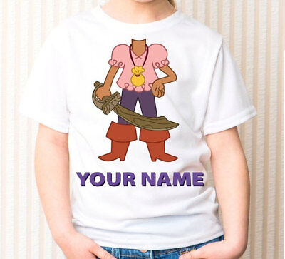 izzy jake and the neverland pirates Personalized - Birthday T-Shirt Party Favor