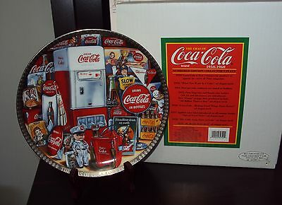 1950-1960 Coca Cola Numbered Edition Collector's Plate From 1996, #1,026