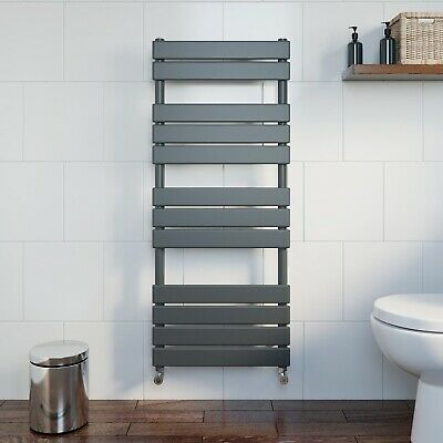 Bathroom 1200x500mm Heated Towel Rail Radiator Central Heating Panel Anthracite