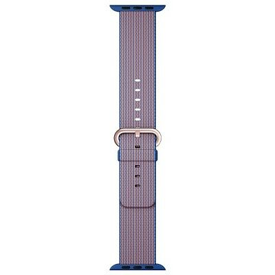 New Apple Watch 38mm Band Woven Nylon Royal Blue Original OEM