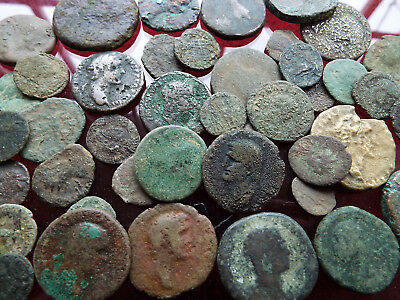 """""""ELK"""" Norfolk Collection of Uncleaned ROMAN Bronze COINS"""