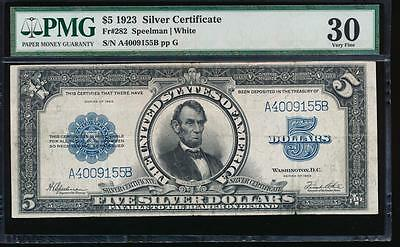 AC Fr 282 $5 1923 Silver Certificate PORTHOLE PMG 30 comment