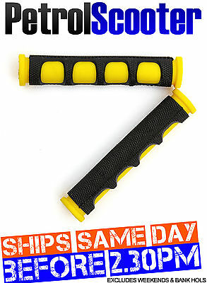 Motorbike Bicycle Brake Lever Covers Grips Protectors Black Yellow MTB BMX Cycle