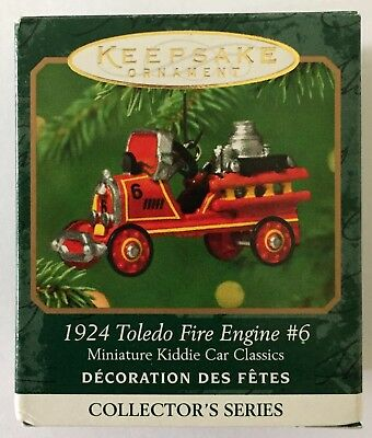 2001 Keepsake Ornament-Miniature Kiddie Car Classics-1924 Toledo Fire Engine #6