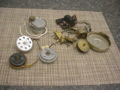 Lot of Vintage Clock Motors Movements  for Parts or Repair Work Steampunk E942