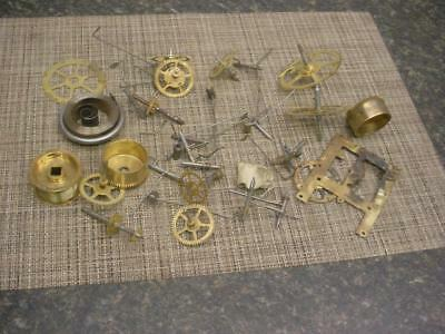 Antique Waterbury  Brass Watchmaker Parts Main Secondary Gears Timing  E757