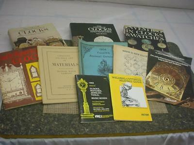 Huge lot of Clockmaker Repair Material and Indentification Guide Books  F214