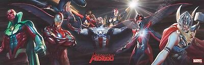 Alex Ross: Avengers Linking Covers 1-5 Vinyl Poster Brand New