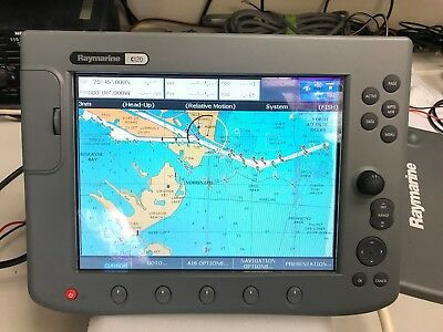 Raymarine C-120 Display Only. Unit Works! Read Description