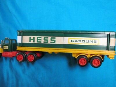 1975 Hess Truck in Very Good Condition with Barrels